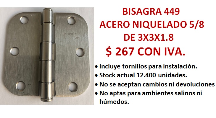 BISAGRA 449 CANTO 5/8